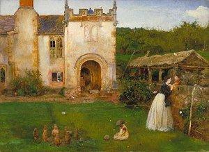 Halsway Manory by John William North ARA RWS